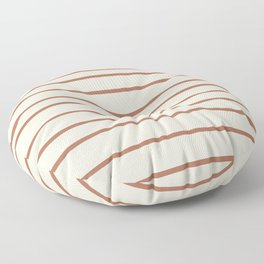 Inspired By Cavern Clay Sw 7701 Hand Drawn Thin Horizontal Lines on Creamy SW7012 Floor Pillow
