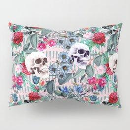 Flowers and Skulls (Pink) Pillow Sham