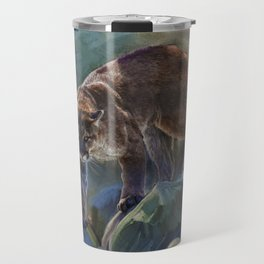 The Mountain King - Cougar Wildlife Art Travel Mug