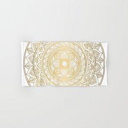 Gold Bali Mandala Hand & Bath Towel