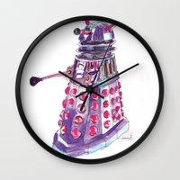 dalek Wall Clocks featuring Dalek by BlueAcorn