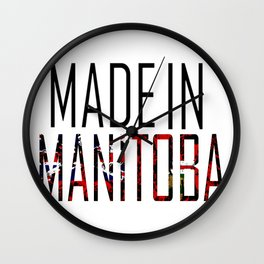 Made in Manitoba Wall Clock