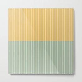 Color Block Lines XIII Metal Print