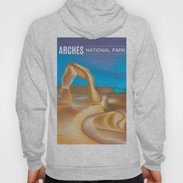Arches National Park, Utah - Skyline Illustration by Loose Petals Hoody
