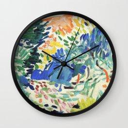 Henri Matisse Landscape At Collioure Wall Clock