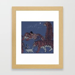 Tiger Pattern Framed Art Print