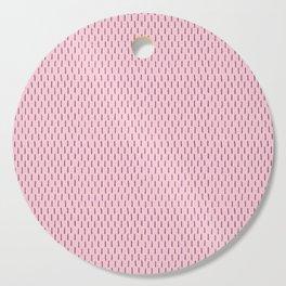 Hand Drawn Pink Line Pattern Cutting Board