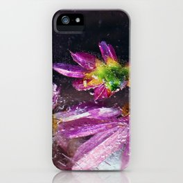 Coreopsis in Ice iPhone Case