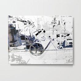 Cotton Spin  Metal Print