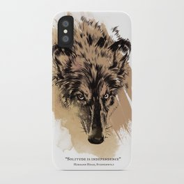 Solitude is independence iPhone Case