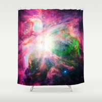 nebula Shower Curtains featuring Orion NebuLA Colorful Purple by 2sweet4words Designs