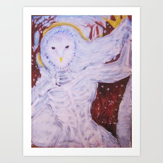 Snow Spirit Art Print