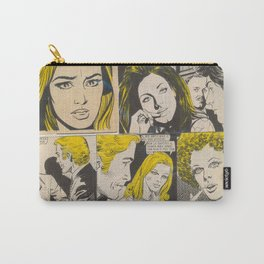 Blonde Italian Original Vintage Comics Collage Carry-All Pouch