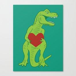 T-rex Love Canvas Print