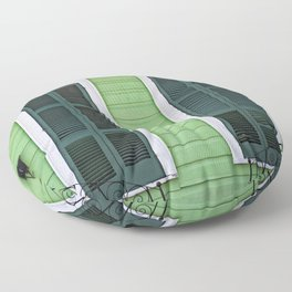 Green Creole Cottage Floor Pillow