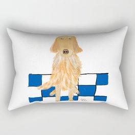 Golden Retriever Wants A Walk Rectangular Pillow