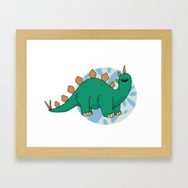Steg-o-sor-us Framed Art Print