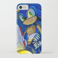 sonic iPhone & iPod Cases featuring Sonic by amanda.scopel