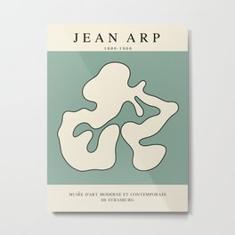 Modern poster - Jean Hans Arp - Exposition 1. Metal Print