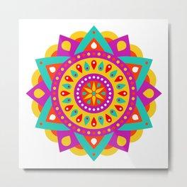 Mandala Yoga Massage Meditation Esoteric Symmetrical Art Gift Metal Print