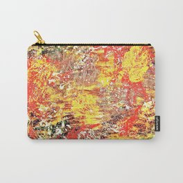 Golden Autumn Abstract Carry-All Pouch