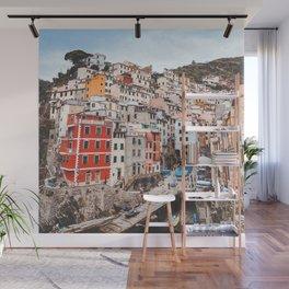 The five lands, cinque terre, Riomaggiore, Unesco village, UNESCO site, Liguria, sea village, cliff villages Wall Mural