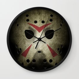 Slasher Hockey Mask Wall Clock