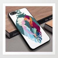 Princess Elsa Anna Frozen Princees Cute Custom iPhone 6s Case Art Print