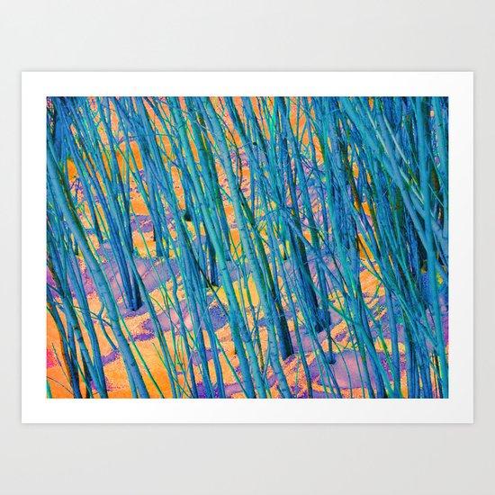 The Green Woods Art Print