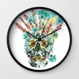 SKULL - TROPICAL LIFE Wall Clock