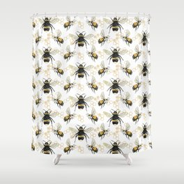 Bees an Honeycombs Shower Curtain