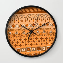 Yzor pattern 008 warm Wall Clock