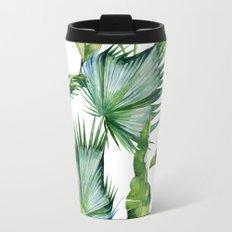 Tropical Island Plants on White Travel Mug