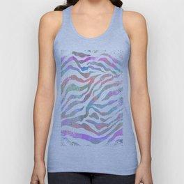 colorful zebra pattern Unisex Tank Top
