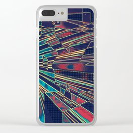 Colorful Op Art Clear iPhone Case