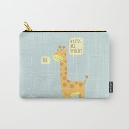 Giraffe problems! - Baby Blue version Carry-All Pouch