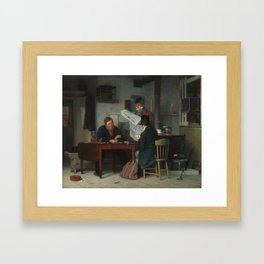 Waiting for the Stage Oil Painting by Richard Caton Woodville Framed Art Print