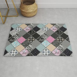Rustic patchwork, Granny pattern, rustic, patchwork, fashion Rug