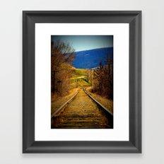 railway edited Framed Art Print
