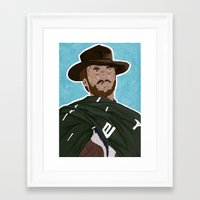 clint eastwood Framed Art Prints featuring Clint Eastwood by  Steve Wade ( Swade)