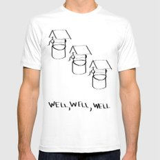 Well Well  MEDIUM White Mens Fitted Tee