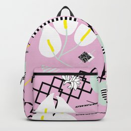80's Calla Lily Floral Backpack