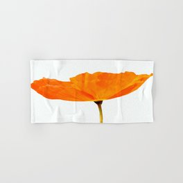 One And Only - Orange Poppy White Background #decor #society6#buyart Hand & Bath Towel