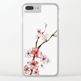Cherry blossom 2 Clear iPhone Case