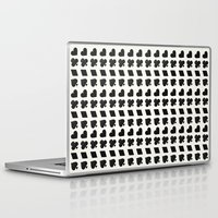 suits Laptop & iPad Skins featuring Card Suits Black by •ntpl•