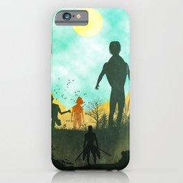 Attack on Titan Silhouette iPhone Case