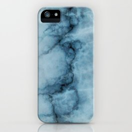 Blue marble abstraction iPhone Case