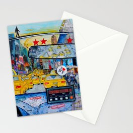 Times Square New York Yellow Taxi View Stationery Cards