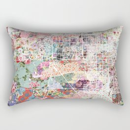 Chandler map Arizona Rectangular Pillow