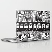 england Laptop & iPad Skins featuring Brighton, England by Caroline Rees